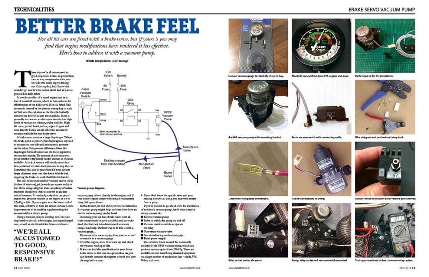 072 Fit a brake vacuum pump