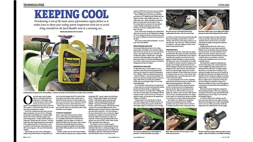 Kit car cooling